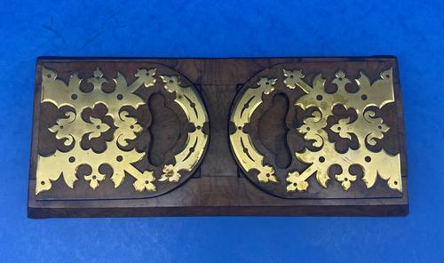 Victorian Burr Walnut  Brassbound Book-slide (1 of 7)