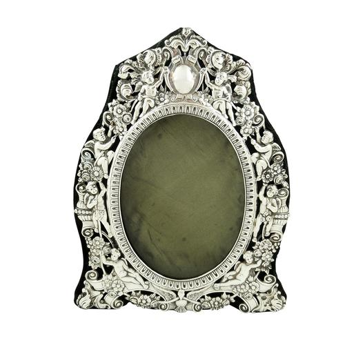 """Antique Victorian Sterling Silver 9"""" Photo Frame 1898 (1 of 11)"""