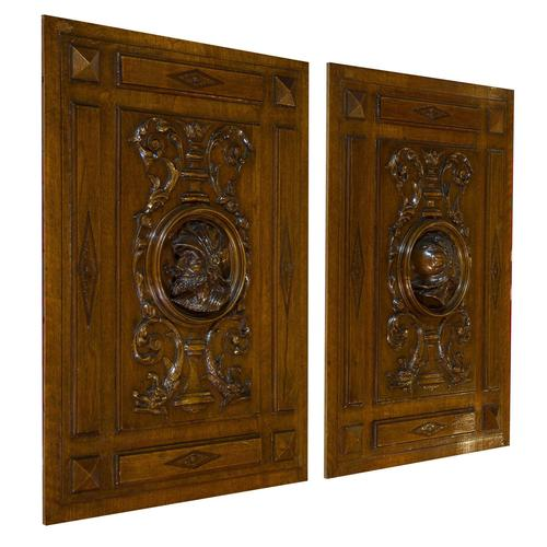 Pair Of Continental 19thc Carved Panels (1 of 6)