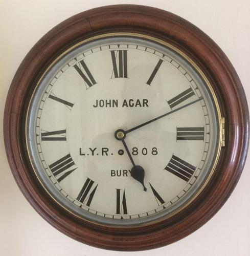 Eight Day Rare High Quality Lancs / Yorks Railway Clock (1 of 12)