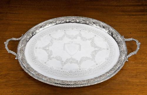 Very Good Quality Early 20th Century Oval Tray (1 of 5)