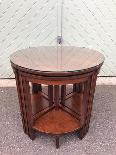 Edwardian Mahogany Round Nest of 5 Tables (1 of 9)