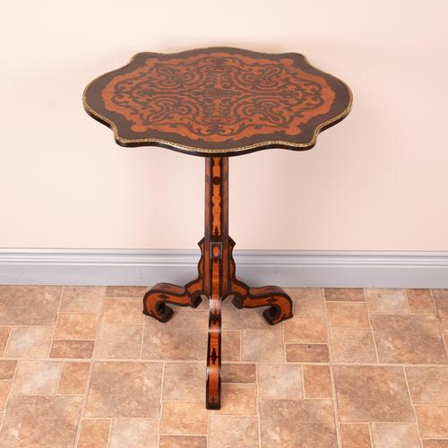 19th Century Marquetry Tripod Table (1 of 17)