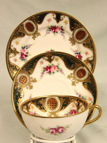 Noritake Porcelain Trio Cup Saucer & Plate. (1 of 9)