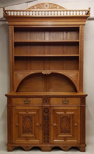 Oak Arts & Crafts Aesthetic, Cabinet Bookcase (1 of 10)
