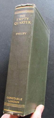 1933 1st Edition The Empty Quarter Description  of the Great South  Desert of Arabia  Known as Rub Al Khali by  H. St. J. B. Philby (1 of 5)