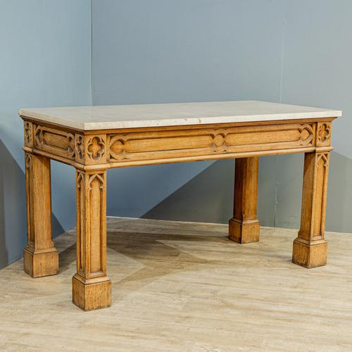 Gothic Oak Console Table (1 of 7)