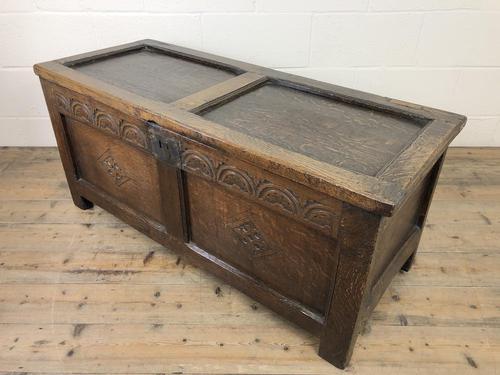 Early 19th Century Antique Oak Coffer Blanket Box (1 of 19)