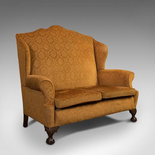 Antique Queen Anne Style Sofa, English, Two Seat Settee, Victorian, Circa 1880 (1 of 10)