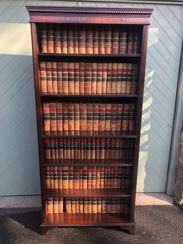 Tall English Mahogany Open Library Bookcase (1 of 10)