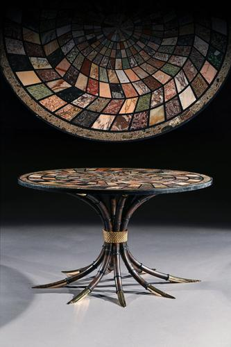 Large Italian 19th Century Specimen Marble Top Centre Table (1 of 14)
