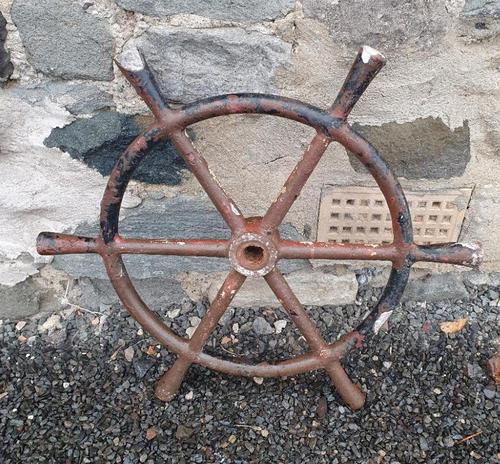 Early 20th Century Fishing Boat Wheel (1 of 4)