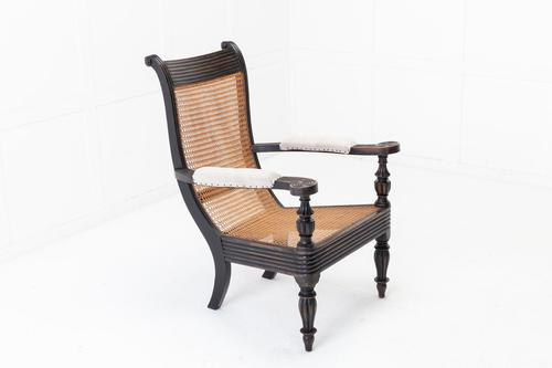19th Century Anglo Indian Ebonised Teak Armchair (1 of 11)