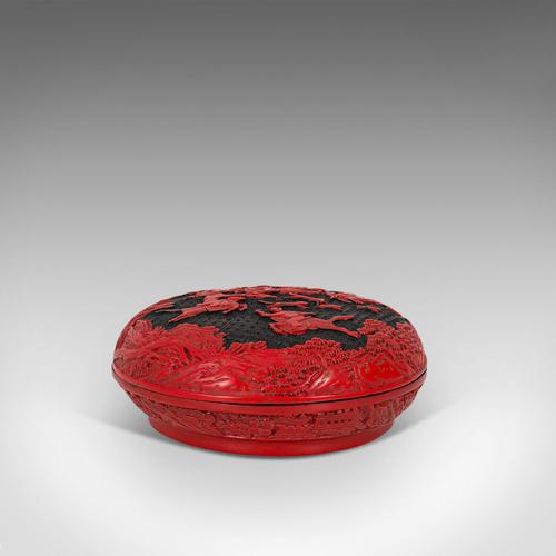 Antique Cinnabar Box, Chinese, Lacquer, Decorative Tray, Qing Dynasty c.1900 (1 of 12)