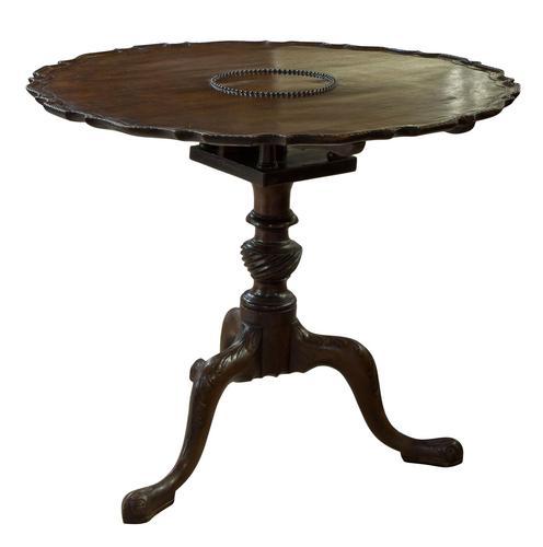 Irish Mahogany Circular Table (1 of 7)