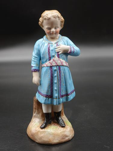 Early 20th Century Porcelain Figure of a Young Girl (1 of 2)