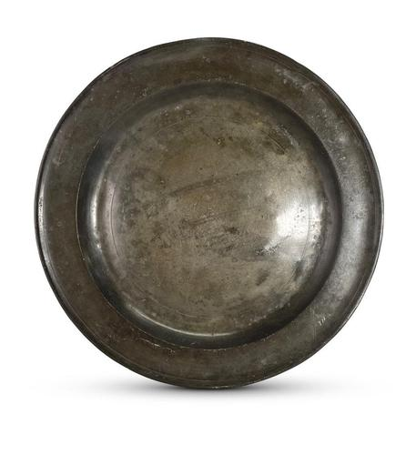 19th Century Pewter Charger (1 of 4)