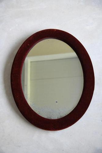 Red Velvet Oval Mirror (1 of 9)