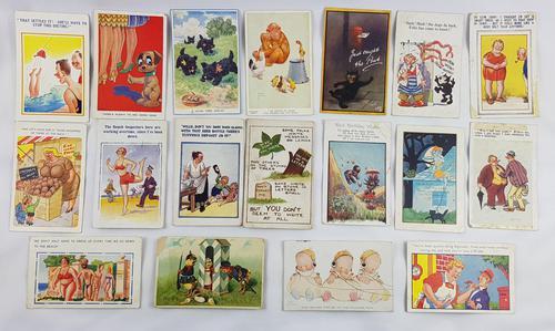 18 Novelty Cartoon Postcards Early 20th Century (1 of 2)