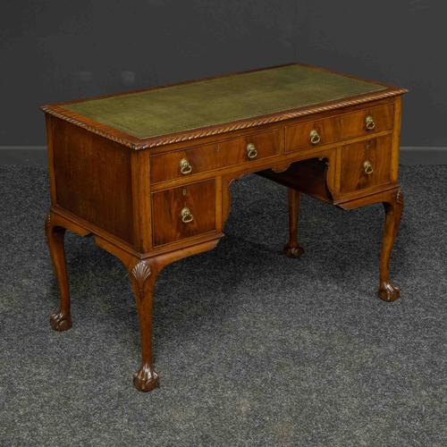 Chippendale Style Mahogany Desk (1 of 8)