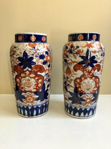 Stunning Pair Of Japanese Imari Vases, Meiji Period Antique (1 of 10)