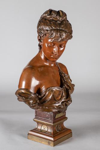 Superb Quality 19th Century French Bronze & Marble Sculpture by Eutrope Bouret (1 of 15)