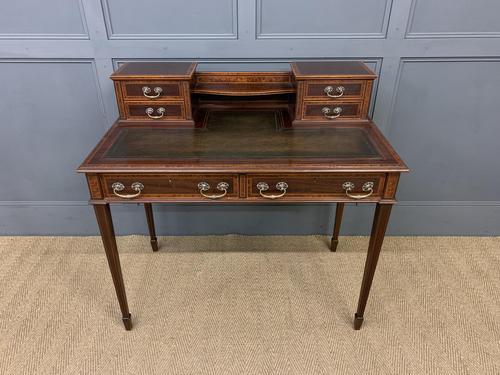 Inlaid Mahogany & Amboyna Writing Desk (1 of 19)