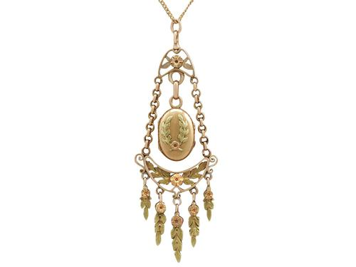 18ct Yellow & Rose Gold Locket - Antique French c.1880 (1 of 9)