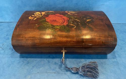Victorian Belgium Painted Box in Holly (1 of 13)