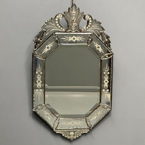 19th Century Cut & Etch Venetian Mirror (1 of 10)