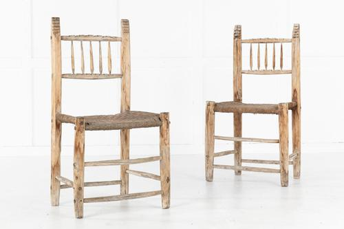 Pair of Spanish 19th Century Decorative Side Chairs (1 of 5)