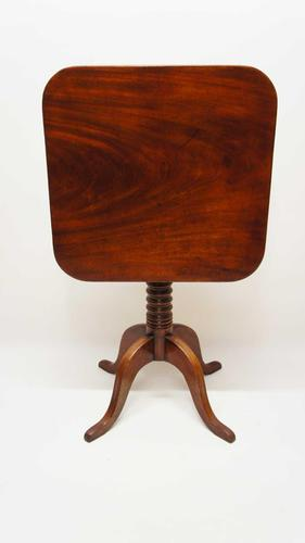 Late Georgian tilt top,  Mahogany occasional or wine table. (1 of 14)