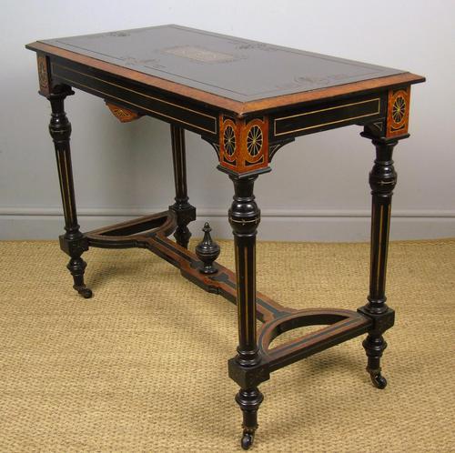 Outstanding Aesthetic Ebonised Burr Walnut Table c.1870 (1 of 10)