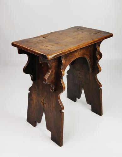 16th Century Style Boarded Oak Stool (1 of 9)