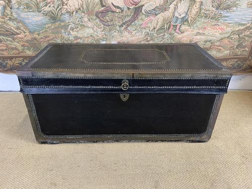 Leather & Brass Bound Camphor Wood Trunk (1 of 5)