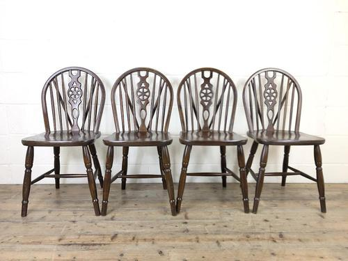 Set of Four Wheelback Dining Chairs (1 of 11)