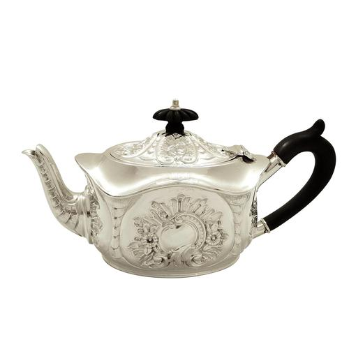 Antique Victorian Sterling Silver Bachelor Teapot 1896 (1 of 8)