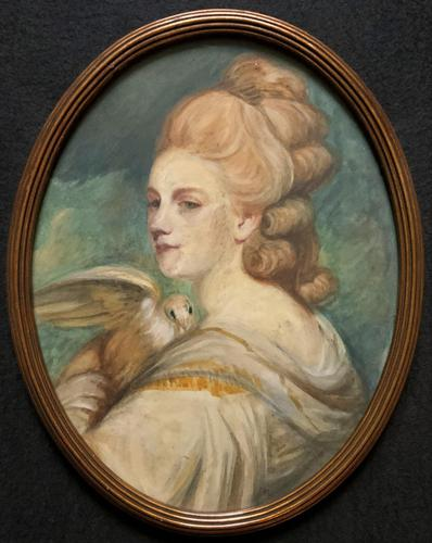 Mrs Mary Desbitt with Dove, After Sir Joshua Reynolds - Portrait Watercolour (1 of 9)