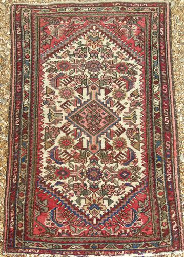Small Hand Woven Hamadan Carpet (1 of 3)