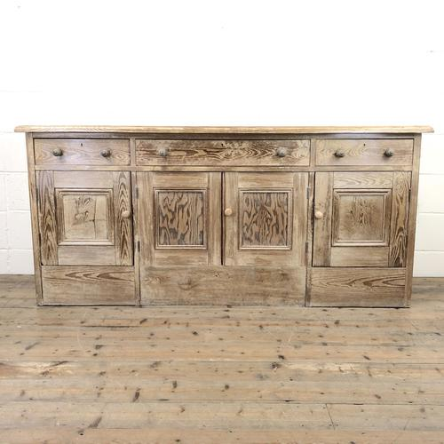 Pitch Pine Sideboard with Four Cupboards (1 of 10)