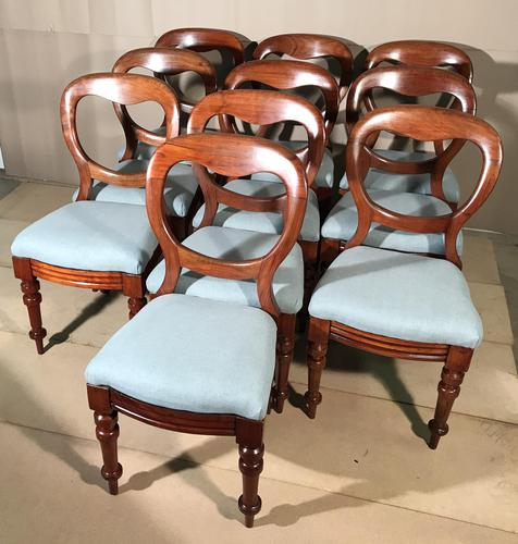 Set of 10 Victorian Balloon Back Chairs (1 of 10)