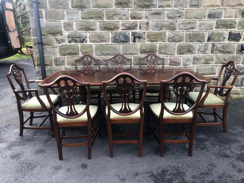 Quality Antique Mahogany Dining Table & 8 Chairs (1 of 13)
