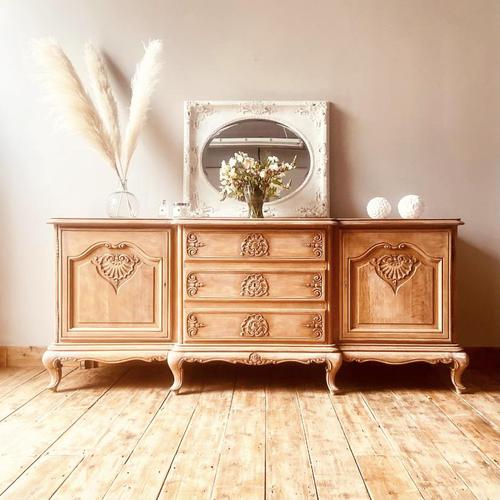 French Antique Style Large Oak Sideboard / Cupboard (1 of 10)