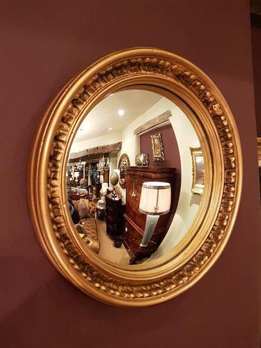 Antique Edwardian Convex Gilt Wall Mirror (1 of 7)