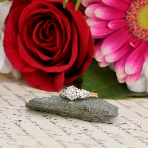 The Art Deco Brilliant Diamond Solitaire Ring (1 of 6)