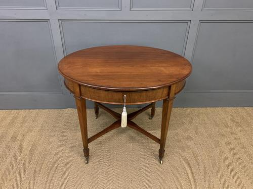 Edwardian Walnut Oval Occasional Table (1 of 13)
