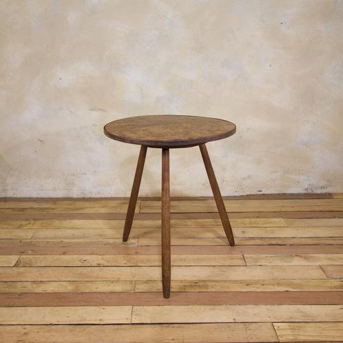 George III Burr Elm & Oak Primitive Cricket Table (1 of 10)