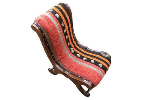 Kilim Covered Slipper Chair (1 of 6)