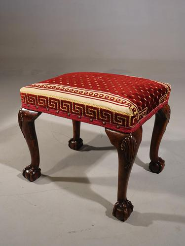 A Very Fine Quality, 18th Century Style, Silk Covered Stool (1 of 5)