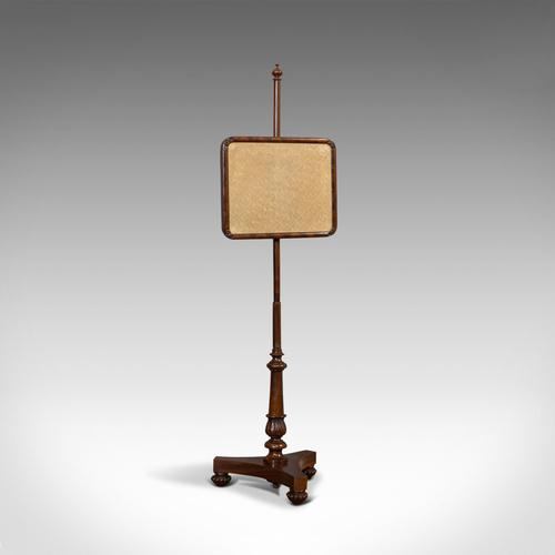 Antique Pole Screen, English, Mahogany, Fireside Screen, Tapestry, Regency, 1820 (1 of 10)